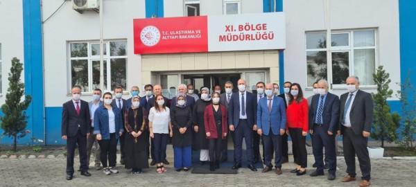 XI. Bölge Müdürlüğümüzü (Trabzon), Hopa Ticaret Odasını ve Sarp sınır kapısını ziyaret ettik.