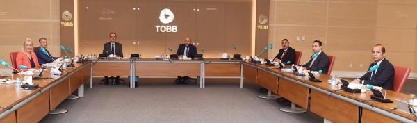 Türkiye Odalar ve Borsalar Birliği (TOBB) yetkilileri ile bir araya geldik.